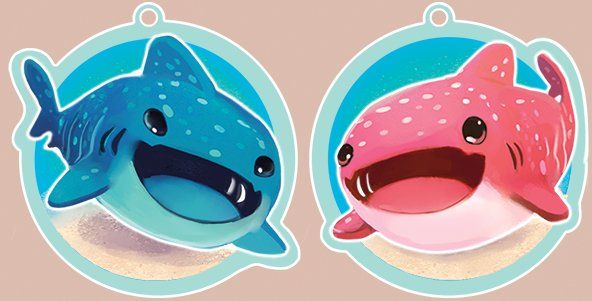 Opening up Pre-Orders for my Whaleshark keychains this weekend! etsy.me/2Jp2pEa These will be ordered June 25th and sent out no later than July 23rd!