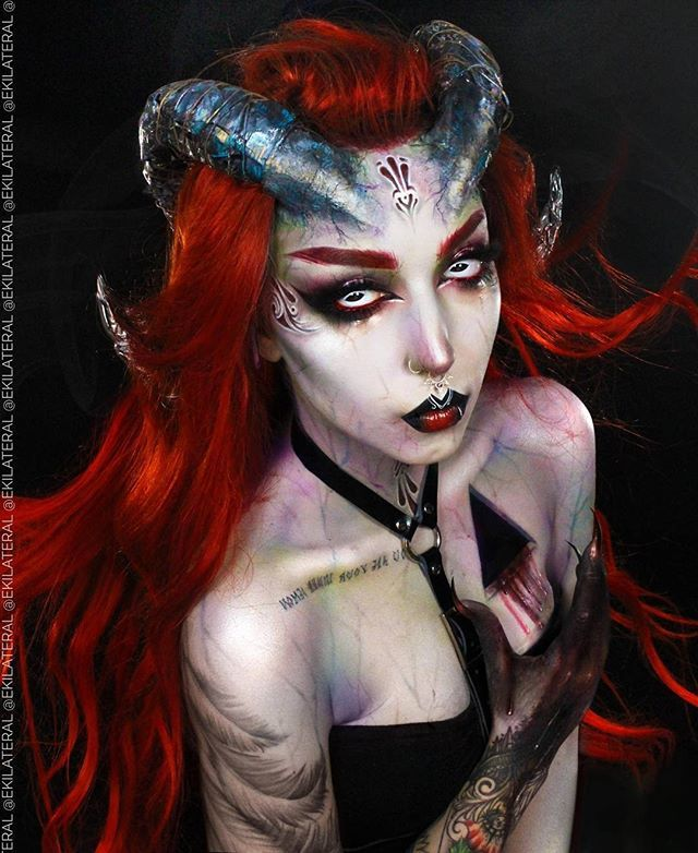 Rogue Wolf Ar Twitter This Succubus Makeup Is Out Of This World Ekilateral Rogueandwolf Darkness Demon Demonic Enchanting Dollsofinstagram Mysterious Spooky Witchy Witchythings Darkmakeup Gothmakeup Makeupforever