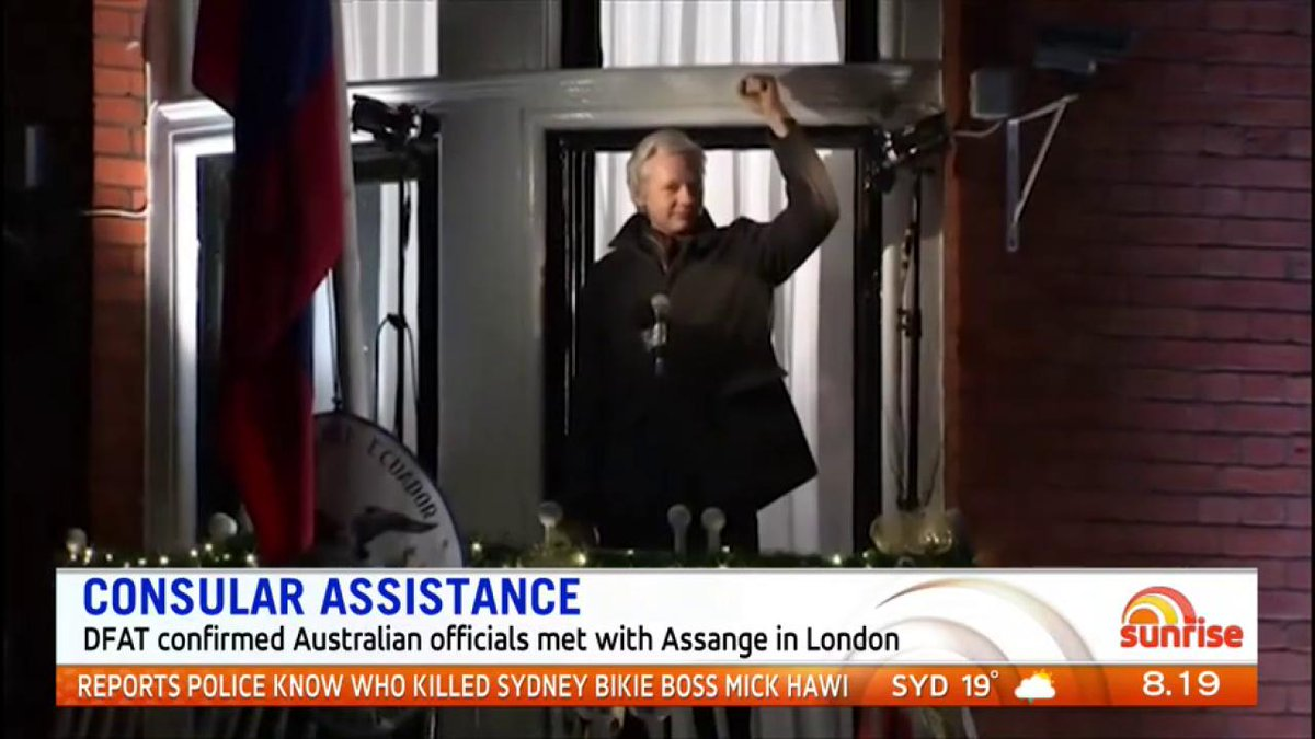 This week Julian Assange was back in the headlines again after it was confirmed Australia is providing him with consular assistance following a visit from two officials from the High Commission in London. #WikiLeaks #7News