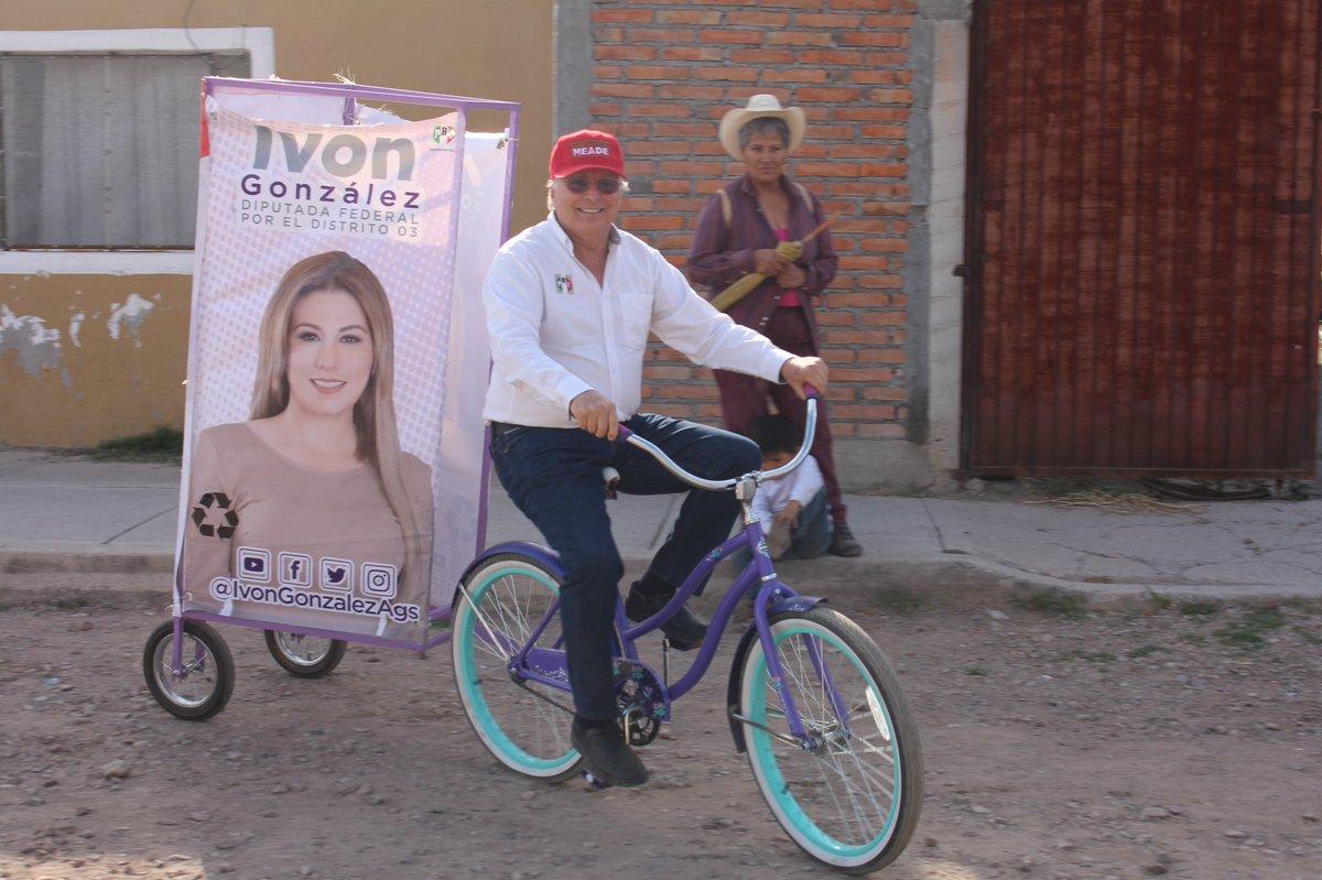 Excelente, divertida y sustentable idea la de nuestra candidata @IvonGonzalezAgs para promocionar su imagen y la del próximo Presidente de Mexico @JoseAMeadeK https://t.co/3PN7wayf3H