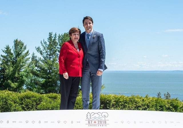 Thank you @JustinTrudeau for your leadership at the #G7 to raise more funds for #education of girls in emergencies. The @WorldBank is proud to be your partner. We pledge to provide $2 billion over the next 5 years for this important cause.