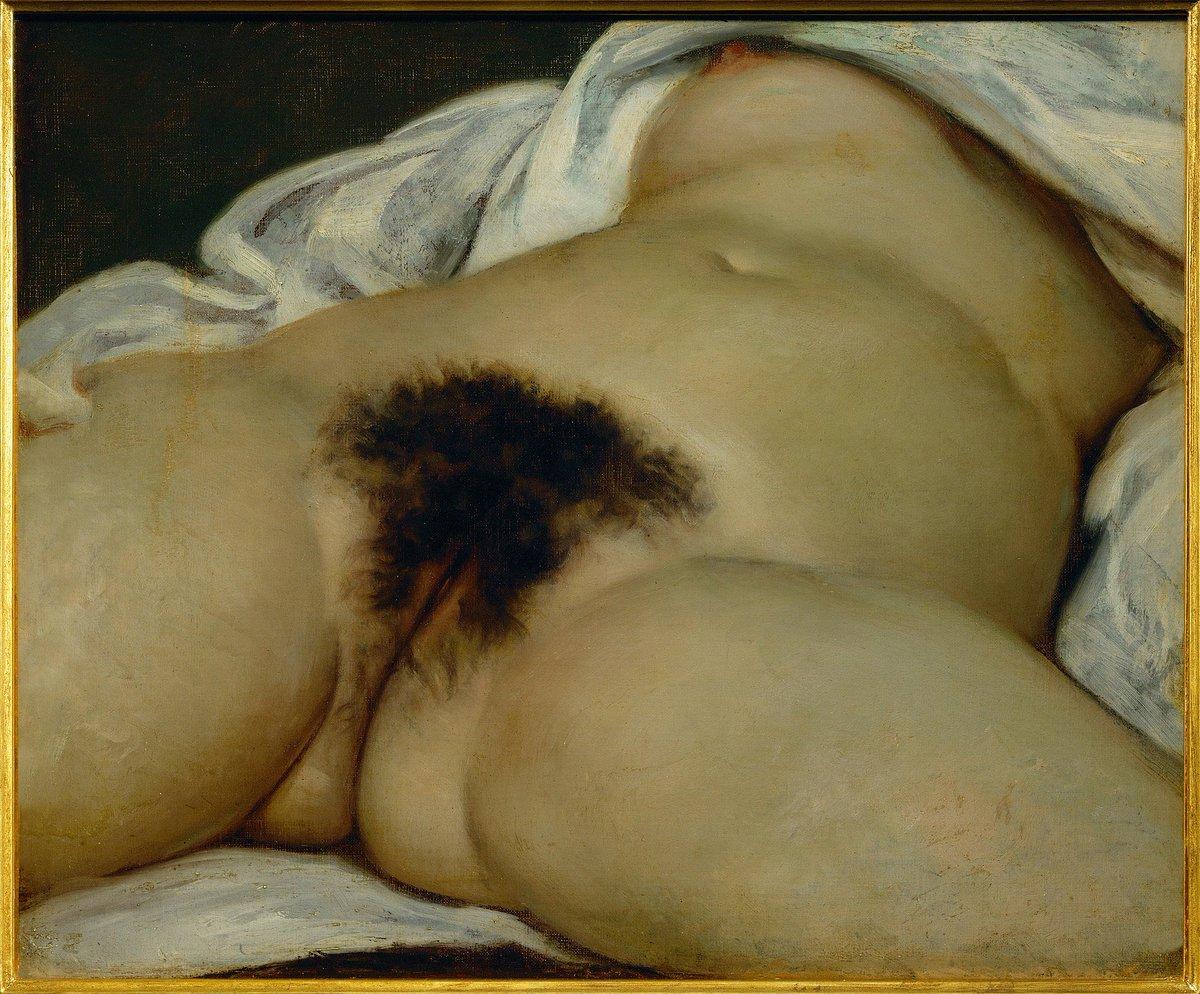 ▶️ Nous sommes le 10 juin ! Il y a 199 ans naissait Gustave Courbet, chef de file du courant réaliste. Parmi ses oeuvres les plus retentissantes, nous trouvons naturellement L'Origine du monde, toile réalisée en 1866 et conservée au @MuseeOrsay ! 🎨#secretsdhistoire