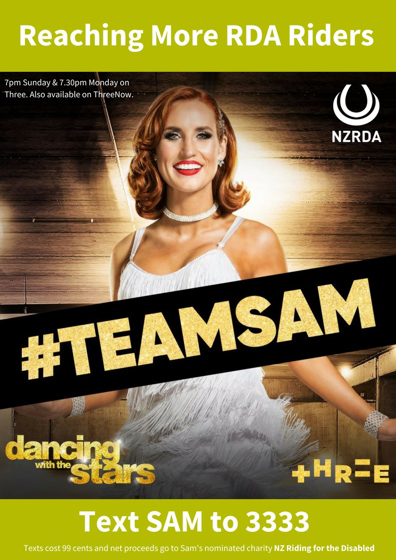 #DWTSNZ Please keep 'our' Sam on the show. The longer @SamHayes_ stays, the more RDA riders we can reach & the more lives we can change. Your vote CAN & DOES change everything. To vote for #TeamSam, text SAM to 3333. 💃💖🐴 #riding4disabled  #ReachingMoreRidersChangingMoreLives https://t.co/fiMR9CNcNS