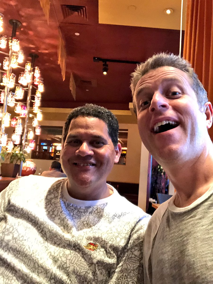 Found the big man! Reggie in the house for chips and guac! Time for #e3