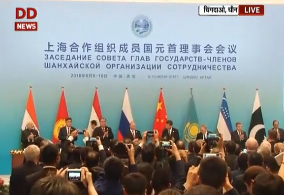 Signing of Agreements &amp; Joint Statement at #SCOSummit2018  LIVE from #Qingdao, China  https:// youtu.be/nEwXvEG0eIY  &nbsp;  <br>http://pic.twitter.com/SGKLZuv2vQ
