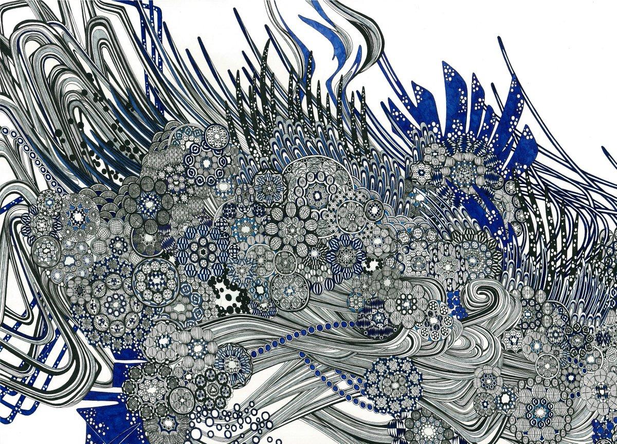 軌丰(Kibou) 2017 24.2×33.3(cm) ink on Kent paper #ペン画 #細密画 #drawings #miniatures #artwork #painting #ink #イシイシト #YoshitoIshii #石井義人 pic.twitter.com/Gom1W7MF57