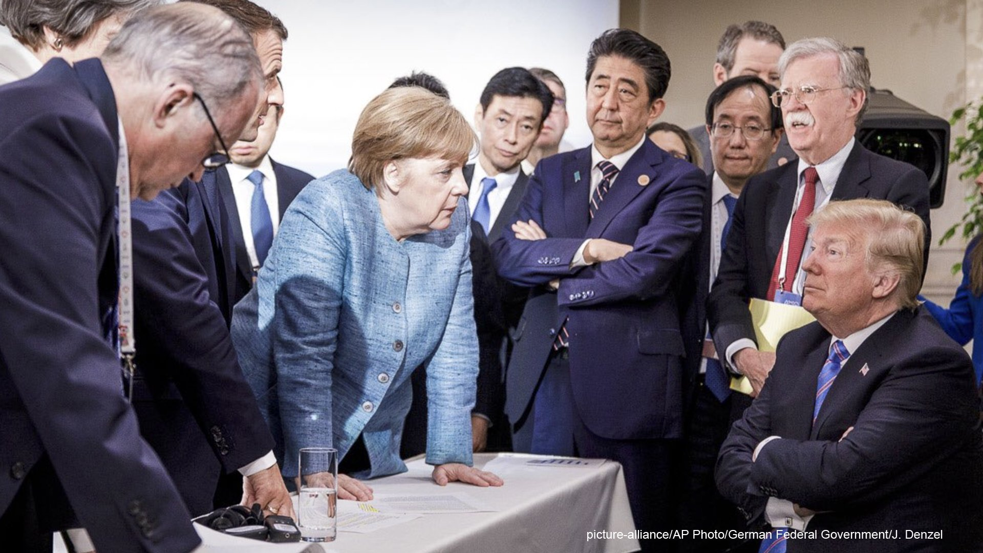 The photo that launched a thousand tweets:   #G7 https://t.co/MP1pjt1H6d