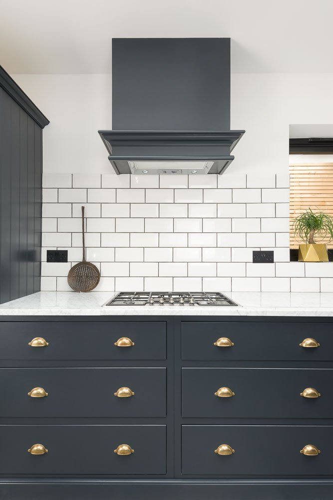 Devol Kitchens On Twitter Pantry Blue Cupboards And White Metro Splashback Tiles A Beautifully Classic And Timeless Combination Pantryblue Metrotiles Https T Co Vdgkradoxn