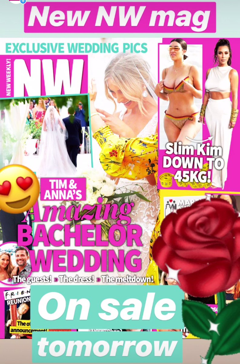SNEAK PEEK! New @NWmag out tomorrow - with exclusive pics from Tim and Anna Robards' incredible Italian wedding. Love, love, loved it guys! 😍😍😍 https://t.co/pLOiDLs5xk