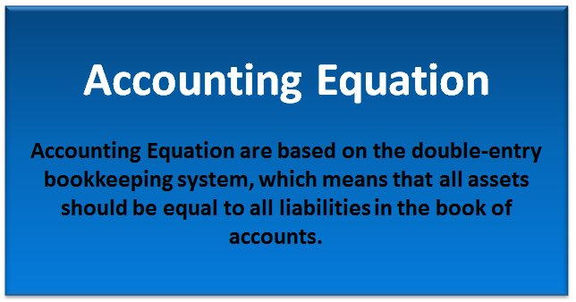 accounting equation examples