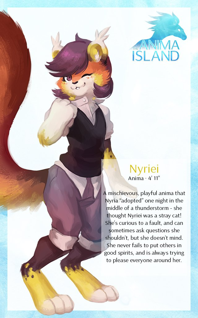 And finally, the last of the main characters in The Anima Island - Nyriei! Meet her and her limitless energy:<br>http://pic.twitter.com/RWhAqvaUvM
