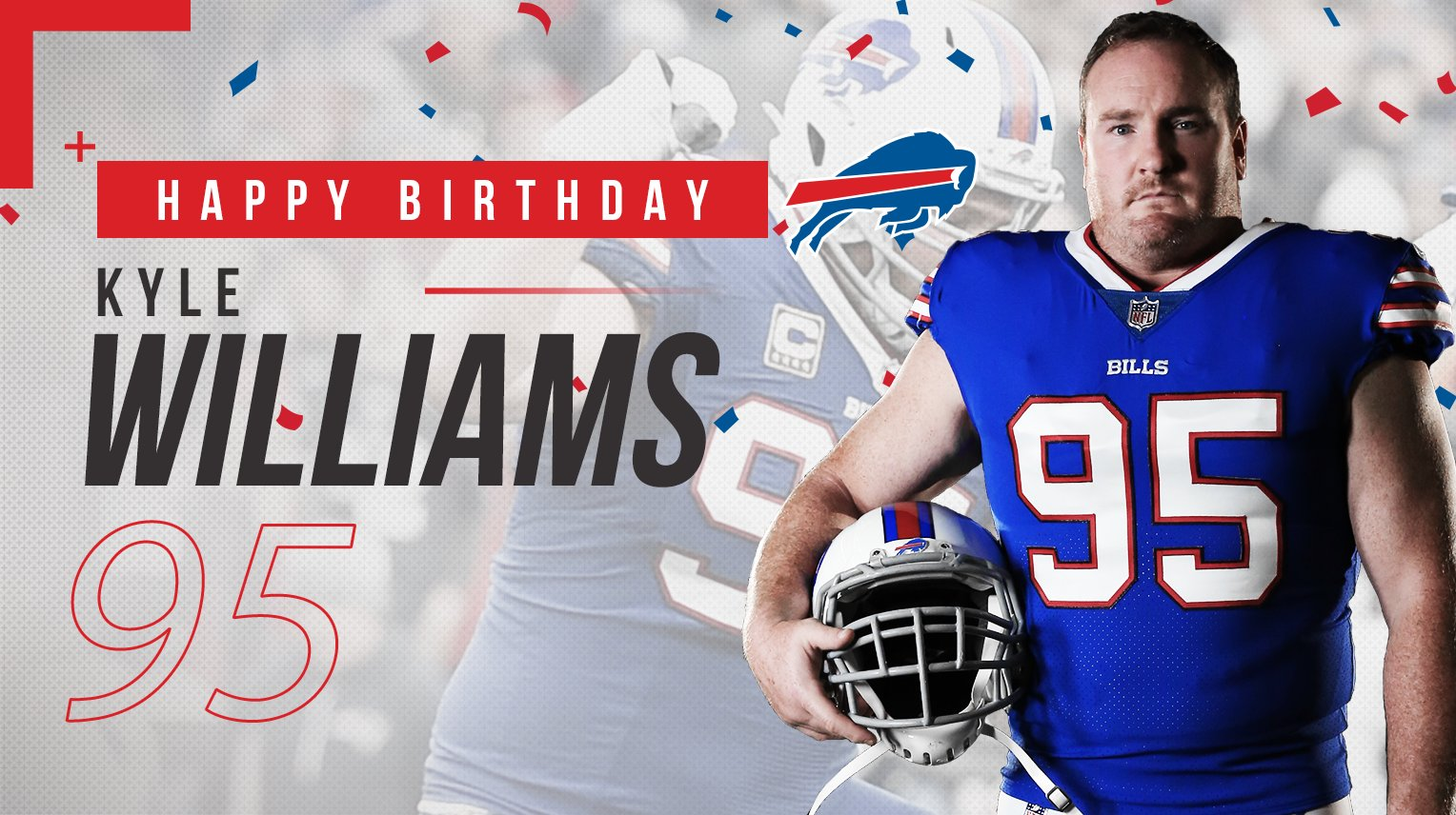 5x Pro Bowler. 13 seasons as a Buffalo Bill. And the heart and soul of our team.  Happy Birthday, Kyle Williams! �� https://t.co/AYryxHBQyJ