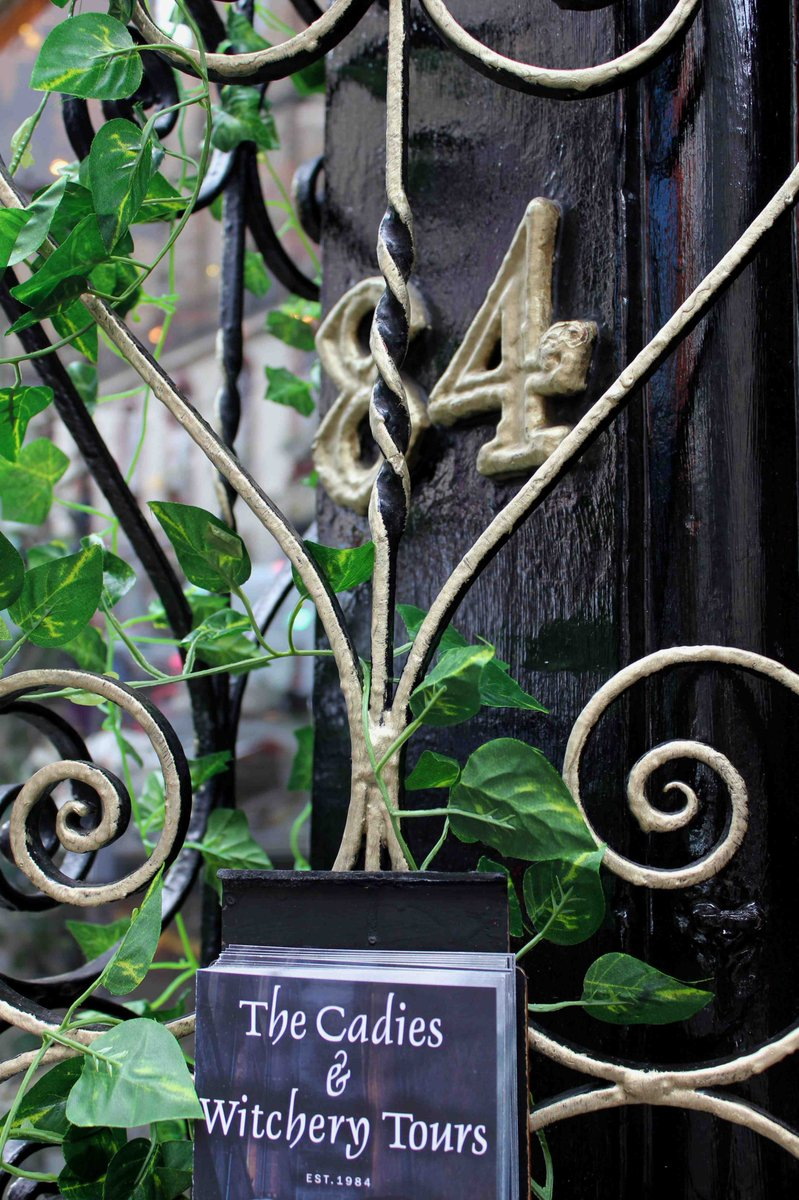 Some Green Added To The Front Of Our Wee Shop At 84 West Bow Victoria Street Edinburgh Scotland Coincide With National Vines On Railings Week