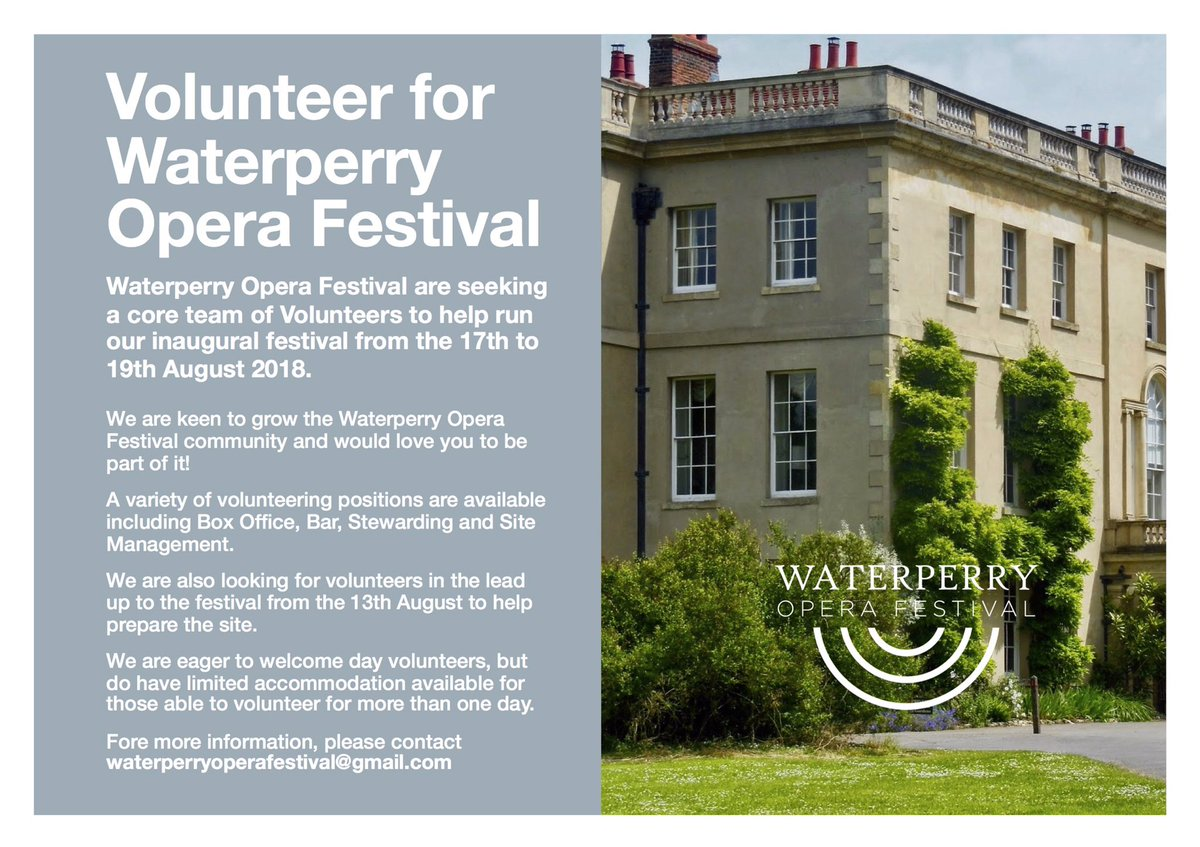 Waterperry Opera Festival on Twitter: