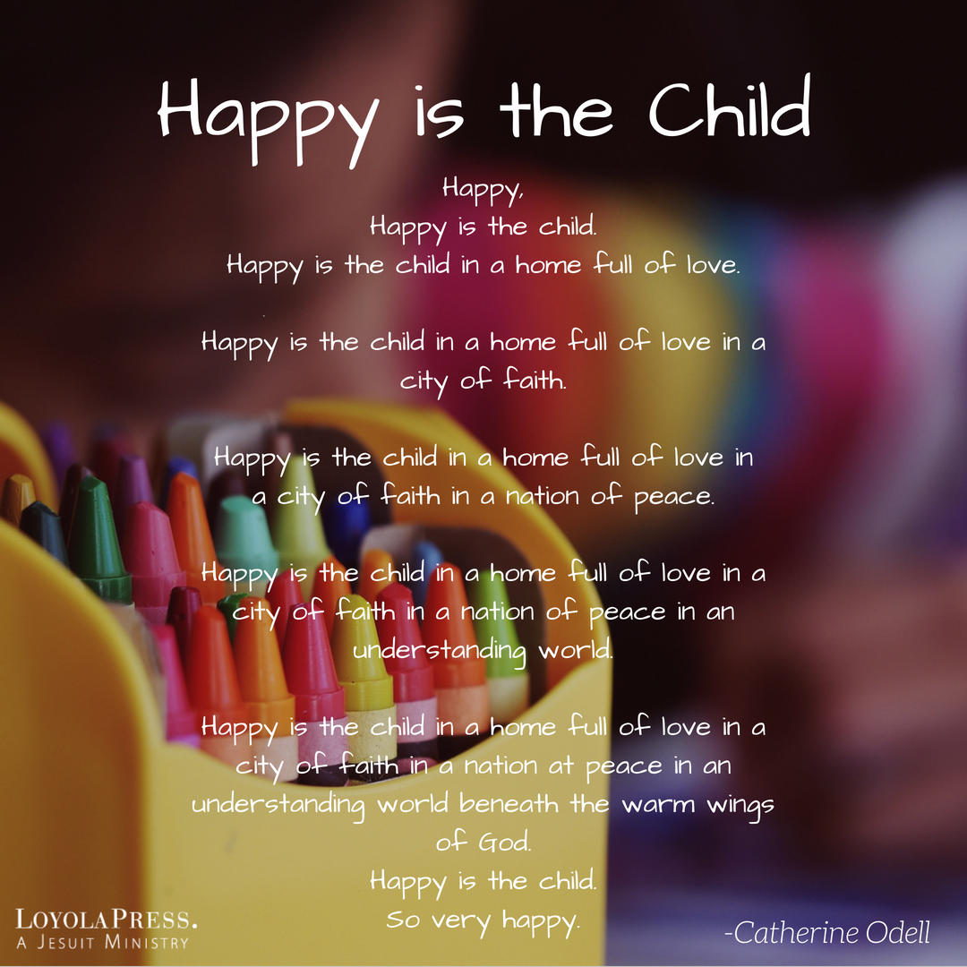 """... Is the Child,"""" from our Loyola Kids Book of Everyday Prayers. Visit our  website to purchase your own Loyola Kids Series! https://goo.gl/BM5cLP ..."""