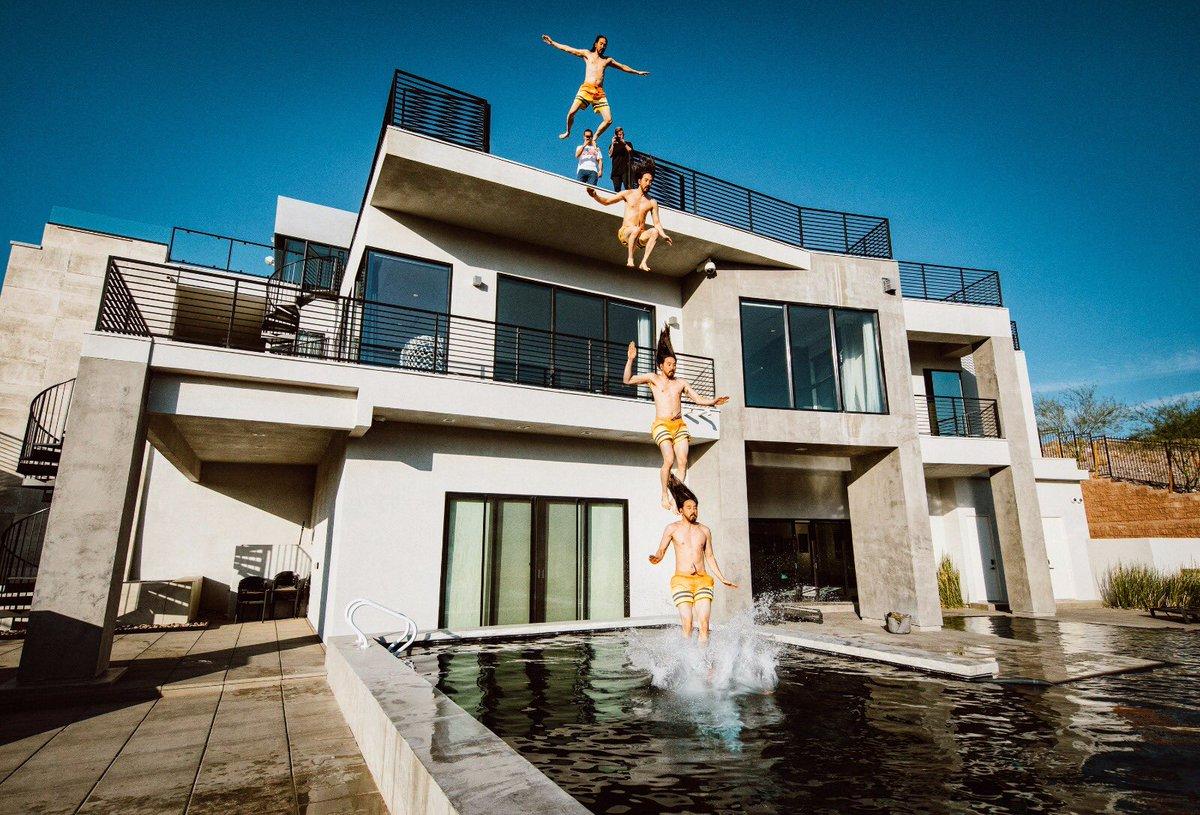 #aokijump #902. The Summer's Here #aokisplayhouse pool Jump. @aokisplayhouse Las Vegas. June 7 2018