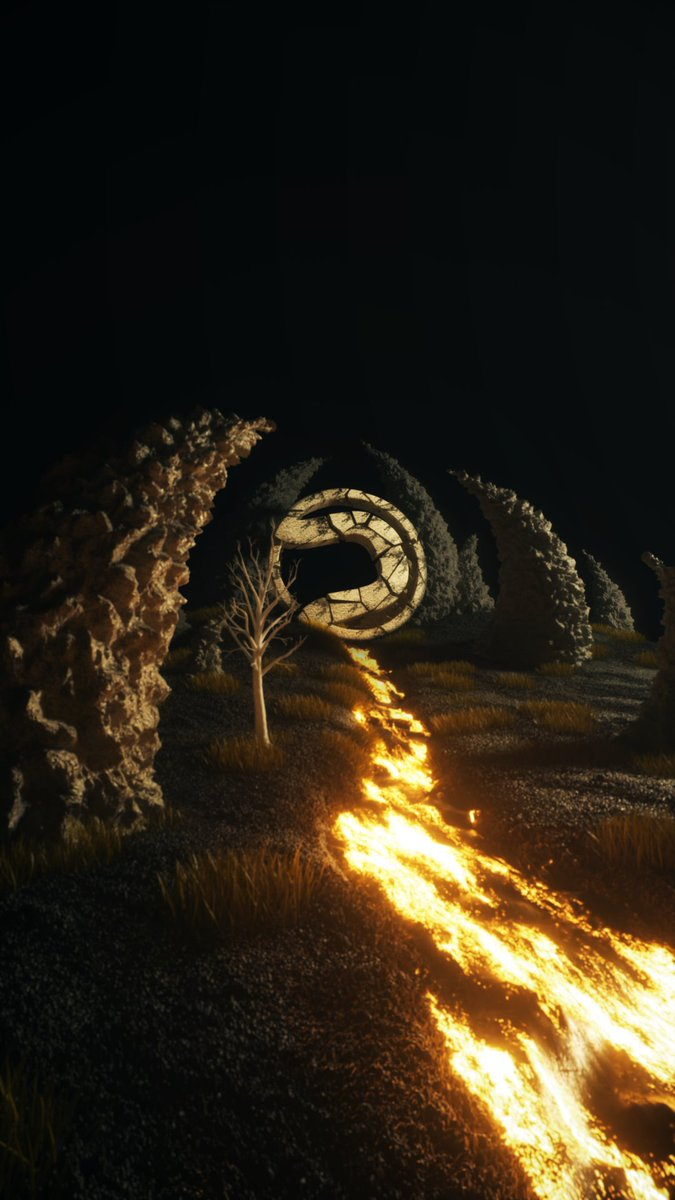 Render forest stone / Cinema 4D and octane render  @BlassFX