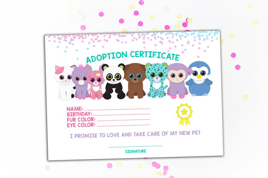 picture regarding Printable Adoption Certificate identify LittleCrazyDoughnut upon Twitter: \