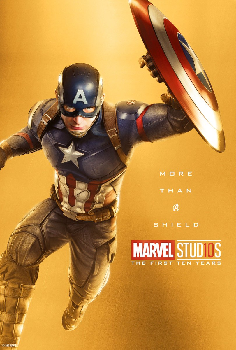 marvel studios celebrates 10 years with special hero posters