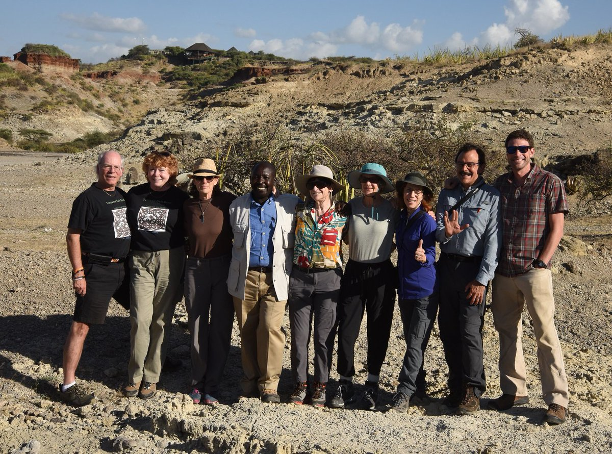 IHO crew at Olduvai, on the spot where @drdonjohanson and White found OH62 @HumanOriginsASU @ASUBeingHuman
