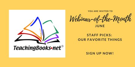 test Twitter Media - Interested in getting time saving tools & tips from TeachingBooks insiders? Join us for the June Webinar-of-the-Month at https://t.co/uBedIbMfw6 https://t.co/tBOuuZEGso