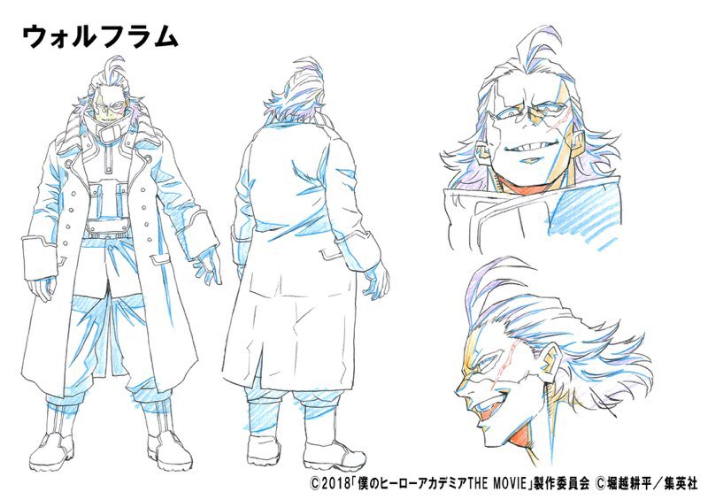 Hero News Network On Twitter A New Character For My Hero Academia The Movie The Two Heroes Has Been Reveled Wolfram An Original Villain Character Designed By Horikoshi Is Planning To
