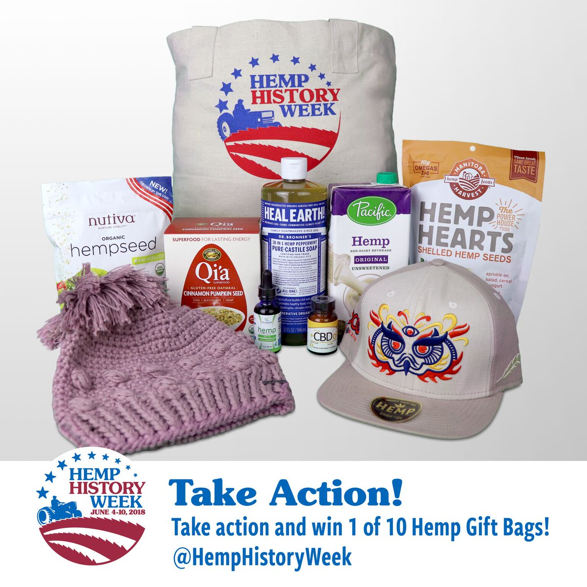 Take Action! with @votehemp to tell your Senators: Let farmers grow #hemp! Last day to enter to win 1-of-10 sponsor supported Hemp Gift-bags! ...