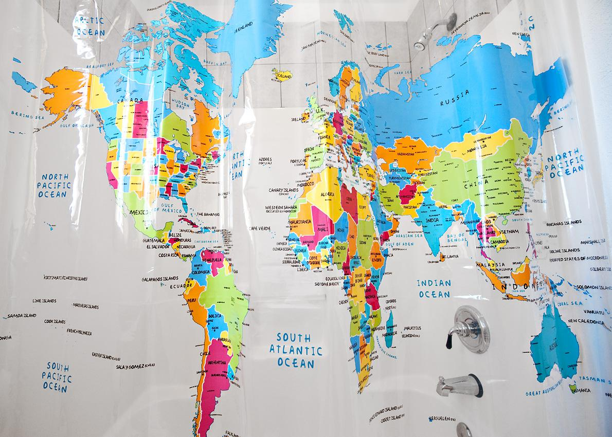 OnlMaps on Twitter World Map Shower Curtain httpstco