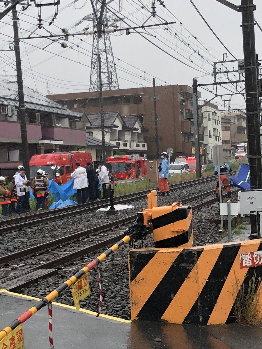 東武東上線のみずほ台駅~鶴瀬駅間で自殺があった人身事故現場の画像