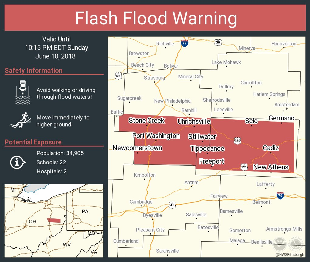 Newcomerstown Ohio Map.Nws Pittsburgh On Twitter Flash Flood Warning Including