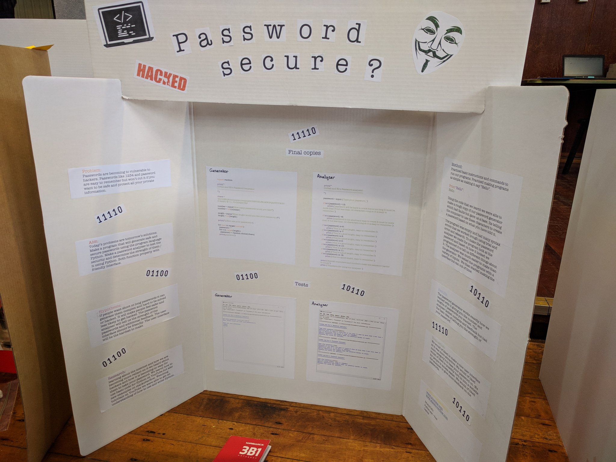 A secure password generator and analyzer and citing @StackOverflow as a source?  Oh yeah! #ScienceFair https://t.co/FLNx7LGWiA