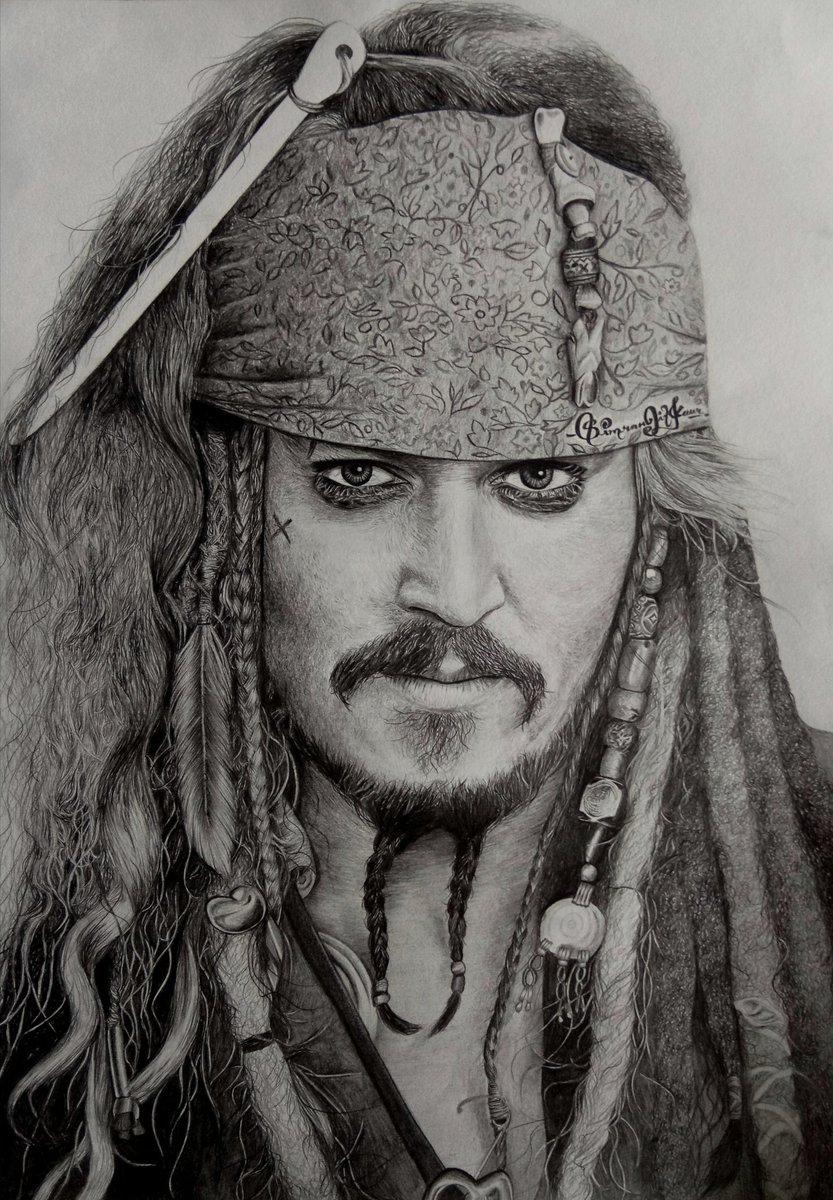 Jack Sparrow Johnny Depp Drawing
