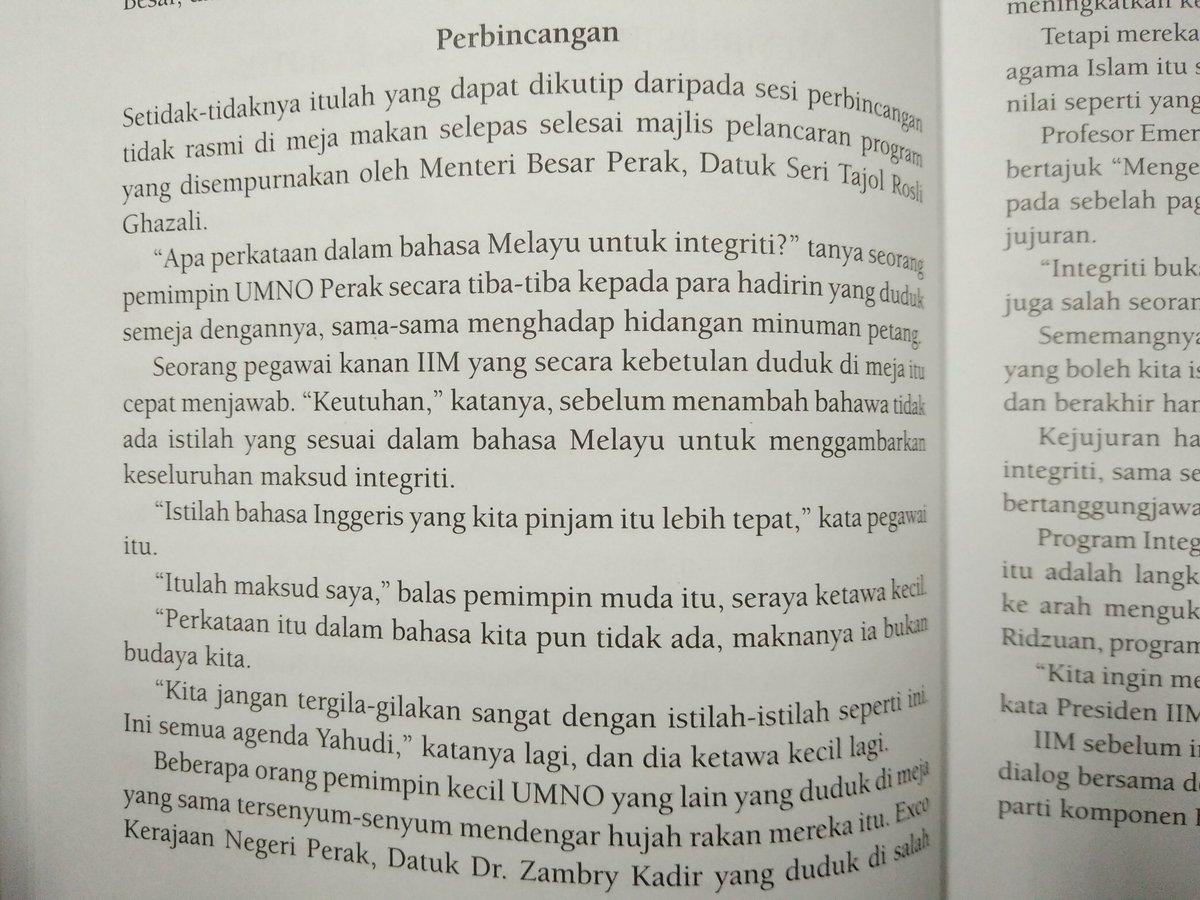 Ziqziqlar Sur Twitter Apa Perkataan Dalam Bahasa Melayu Untuk Integriti Keutuhan Istilah Bahasa Inggeris Yang Kita Pinjam Lebih Tepat Itulah Maksud Saya Perkataan Itu Dalam Bahasa Kita Pun Tidak Ada Maknanya