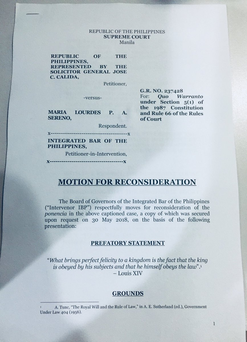 integrated bar of the philippines files motion for reconsideration