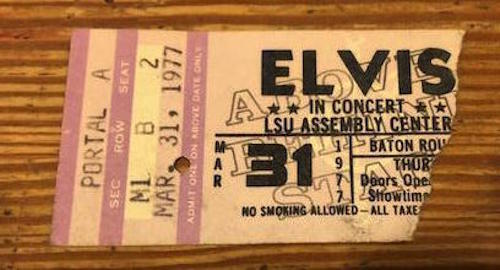 Elvis Presley 1977 3/31 Baton Rouge LA Ticket postponed during intermission RARE https://t.co/dc7t3sBY3Z  #Elvis https://t.co/gShxGR4z2N
