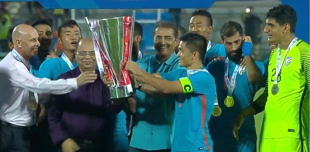The stage was set.. the expectations were sky high and the team followed the footsteps of the master, @chetrisunil11, who delivered not once but twice.  I am sure this is a much needed boost and @IndianFootball is here to stay! #INDvKEN