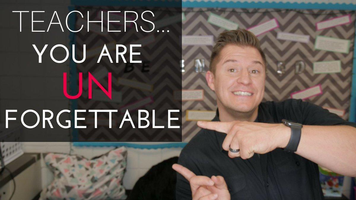 NEW VIDEO: Teachers: YOU are uNforgettable! unseries.com/vid1 #WeTeachuN #JoyfulLeaders #k12