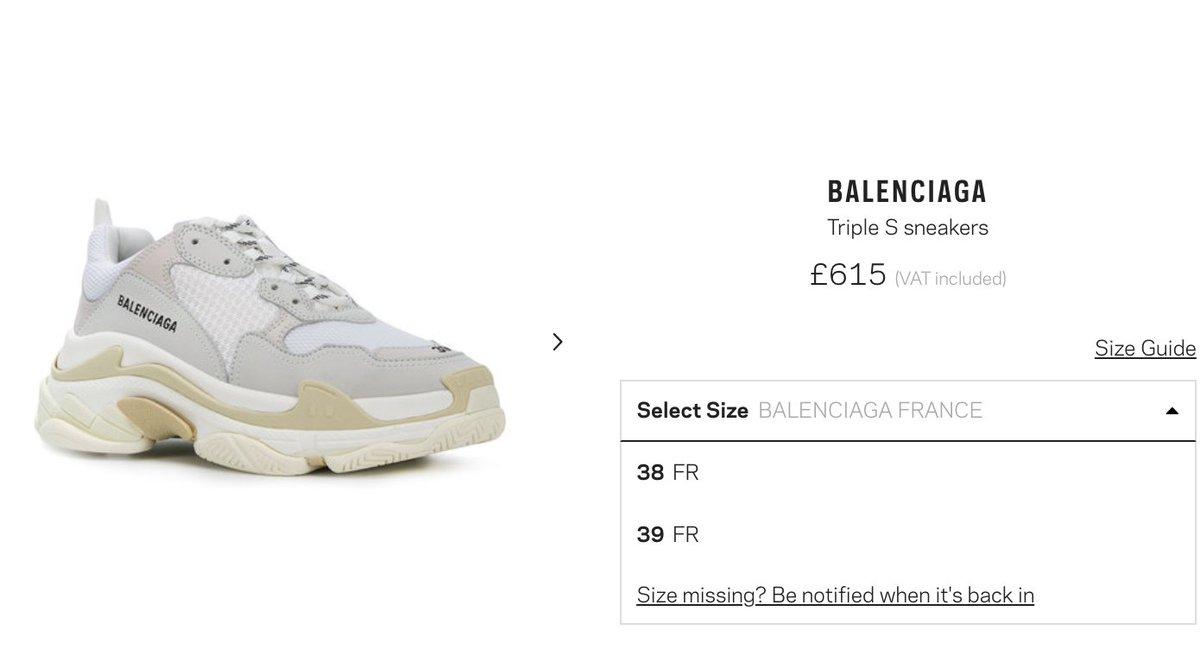 Sneakers Balenciaga Triple S White from Michy Batshuayi