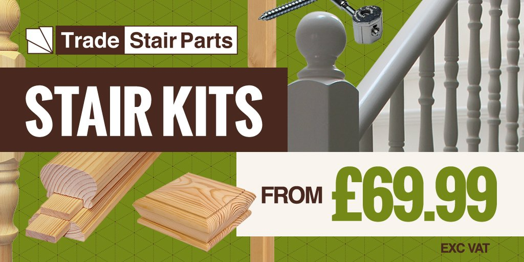 ... All In One STAIR KIT Solutions   #spindles #handrail #baserail #newels  And Fixings Included: BUY NOW:  Https://www.stairpartsuk.com/index.php/kits.html U2026 ...