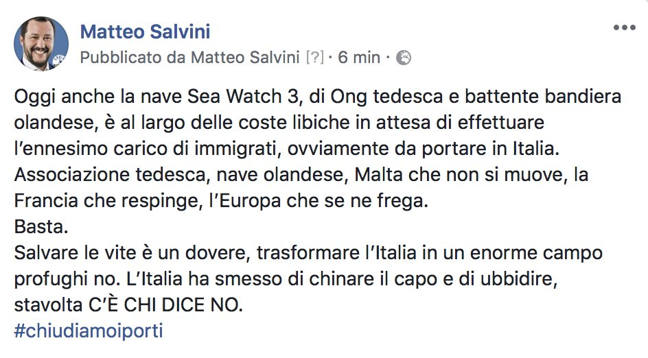 Matteo Salvini on Twitter:
