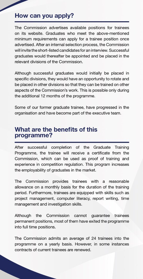 Compcomsa On Twitter Compcomsa Offers A Graduate Trainee Program