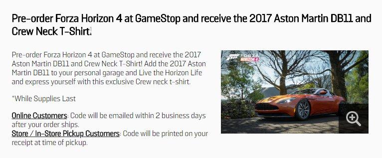 Preorder / bonus DLC discussion thread - Forza Horizon 4