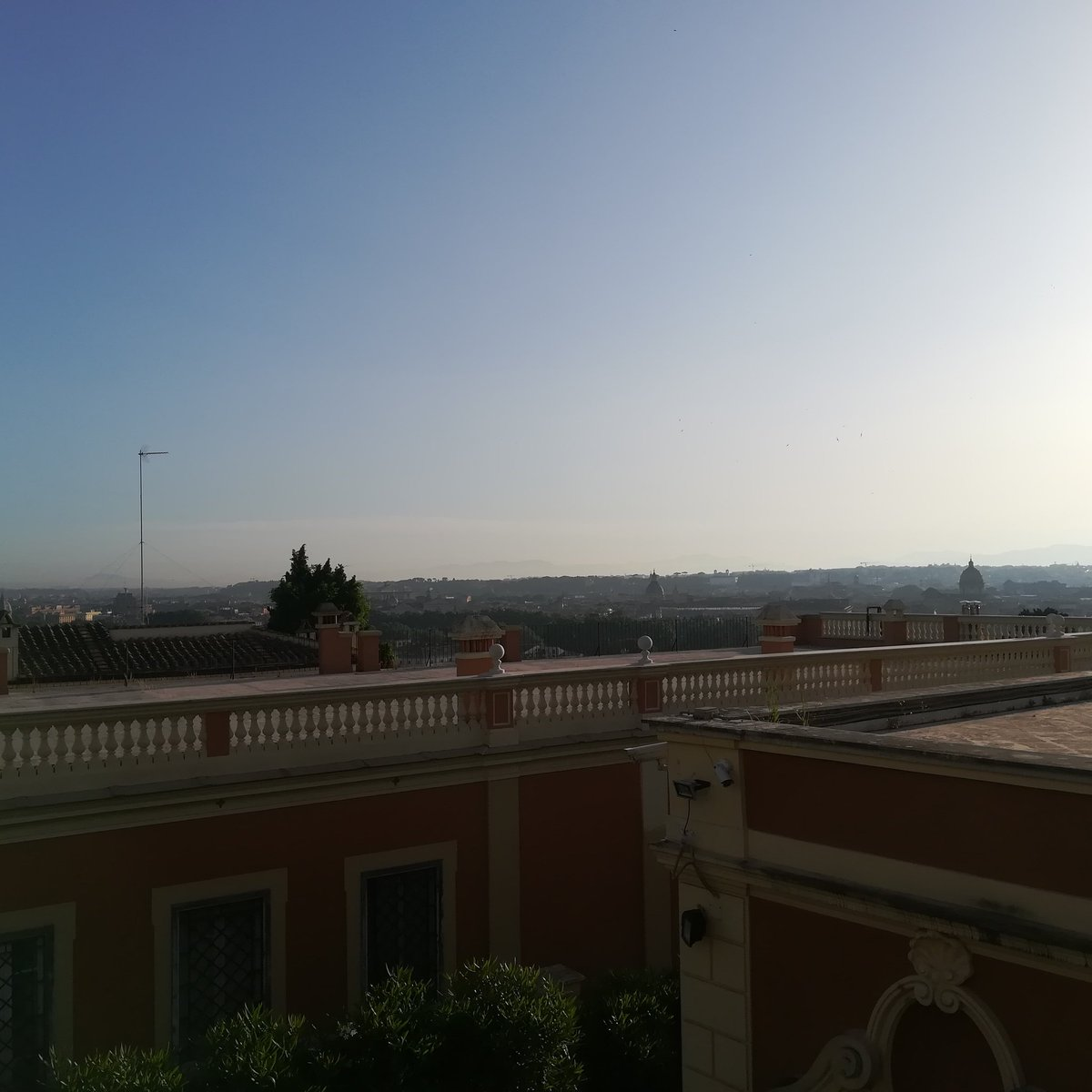 #Roma, con le sue sfumature subito dopo lalba, vista dal #Gianicolo. Impressionante... #romeisus #Rome #Gaudium @JPaul33267538 @Turismoromaweb @caputmundiHeidi @Roma__Go @VeniVidiVisit