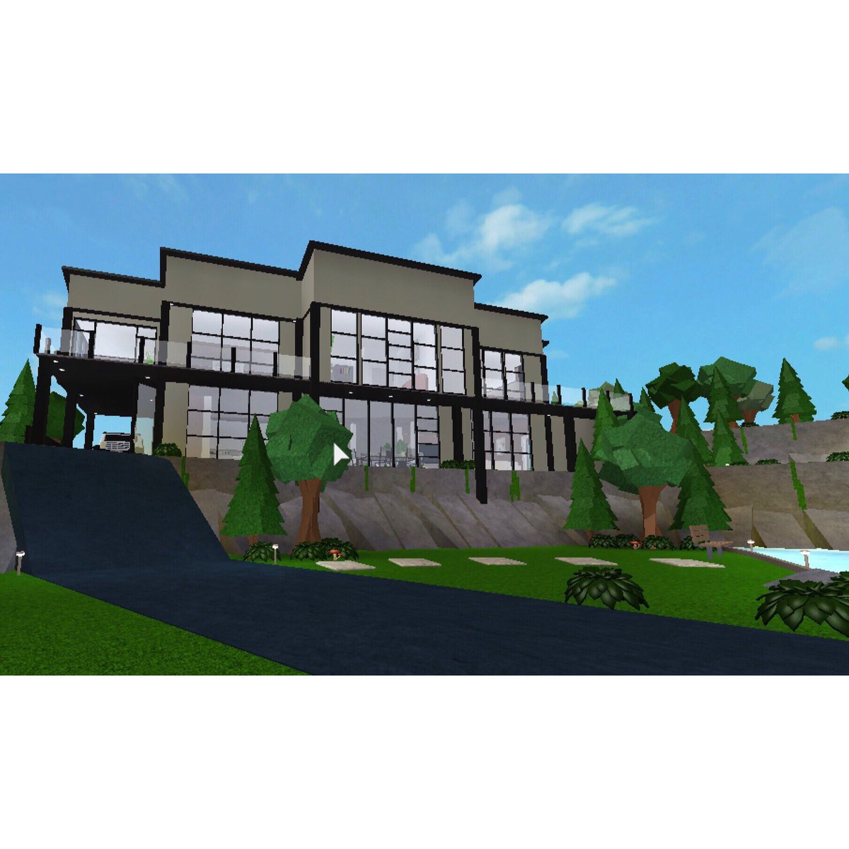 I love the mountains and modern houses so why not put them together bloxburg welcometobloxburg robloxpic twitter com qnllwhs4mo