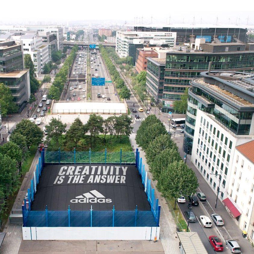 Notre réponse : la créativité. Rendez-vous dès 13h30 avec Zinédine Zidane. 📍250 Avenue du President Wilson, 93200 Saint-Denis. #HereToCreate