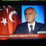 Bahçeli NTVveSTARda Twitter Photo