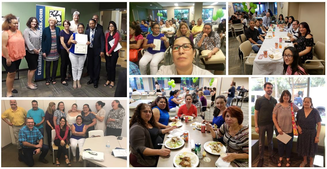 Congratulations to the graduates of our Saturday ESL program, members of the <a target='_blank' href='http://twitter.com/32BJTraining'>@32BJTraining</a> Fund.  🎓 🎉 <a target='_blank' href='http://search.twitter.com/search?q=workforcedevelopment'><a target='_blank' href='https://twitter.com/hashtag/workforcedevelopment?src=hash'>#workforcedevelopment</a></a> <a target='_blank' href='https://t.co/nmZaMoNoP6'>https://t.co/nmZaMoNoP6</a>