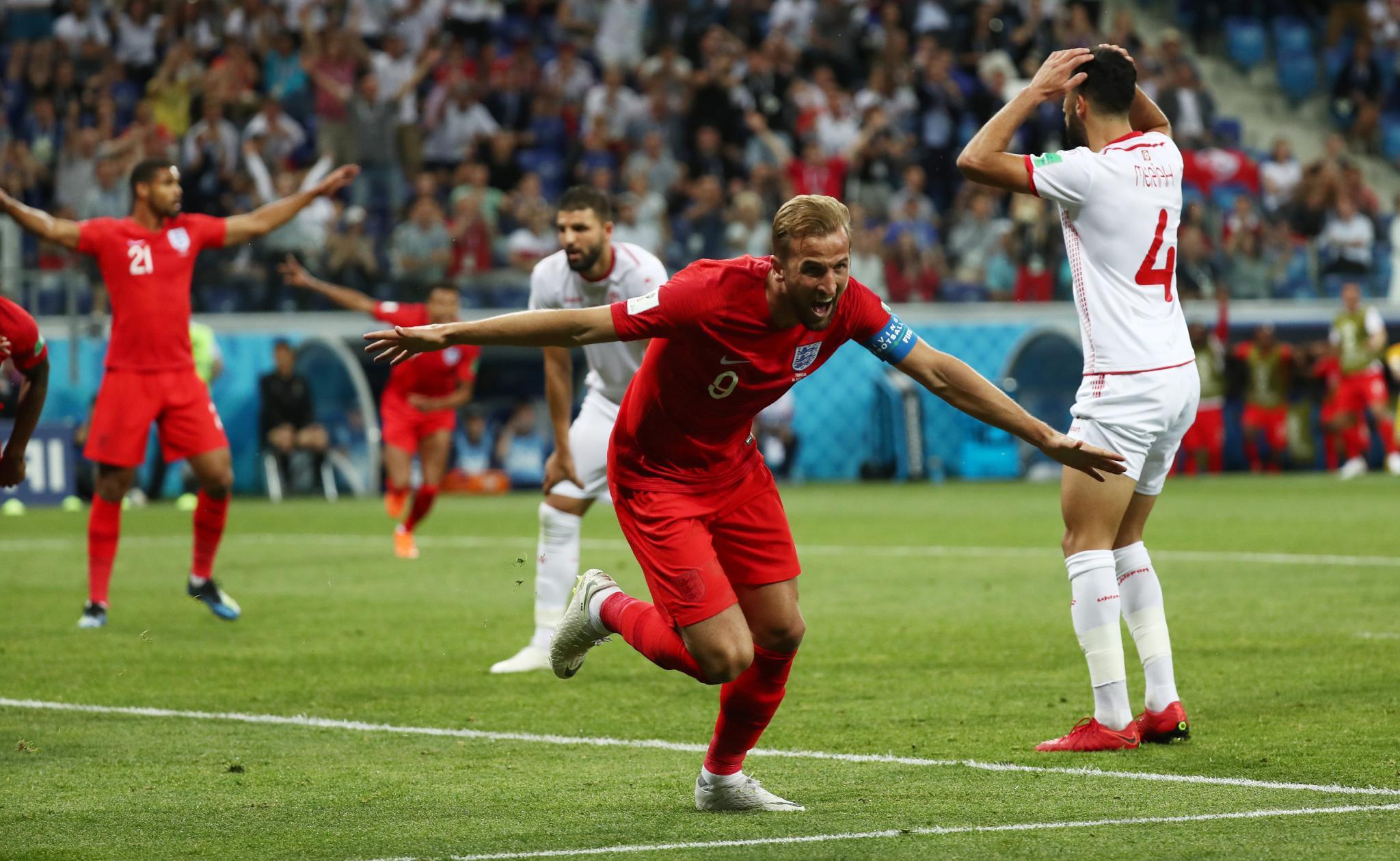 أهداف مباراة انجلترا وتونس