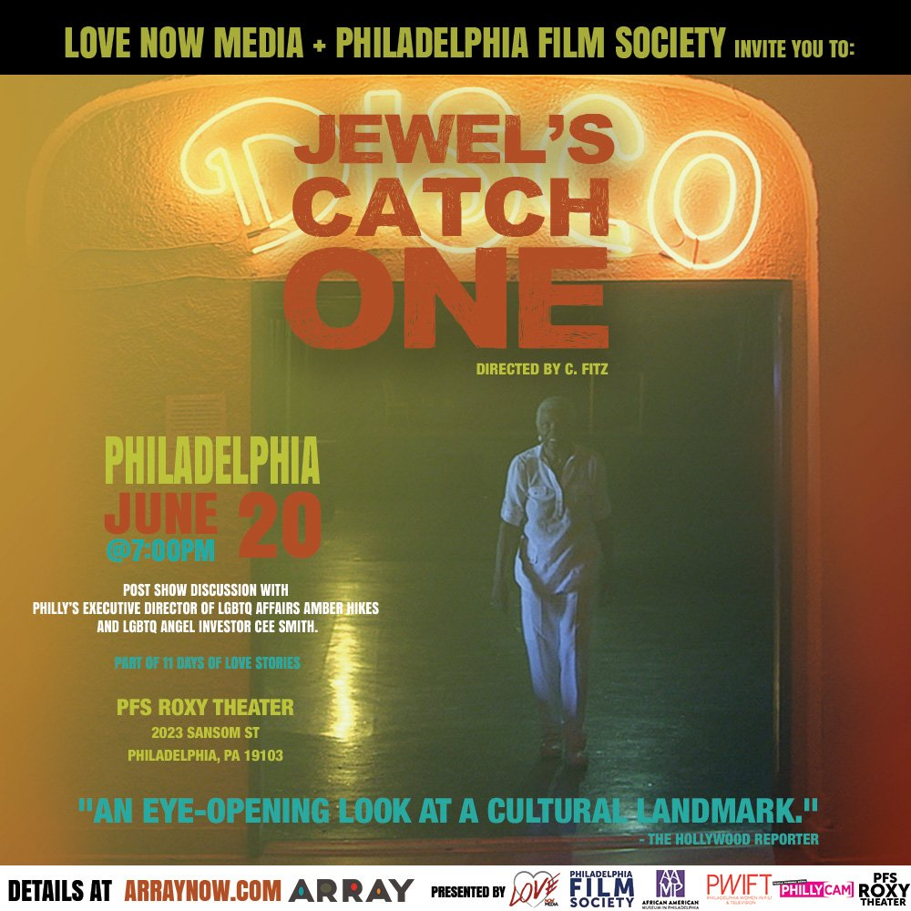 Chance to experience @CFitz_s #documentary Jewels Catch One in community... June 20 #Philly @ARRAYNow #DirectedbyWomen Trailer: youtube.com/watch?v=O6Xf7i…