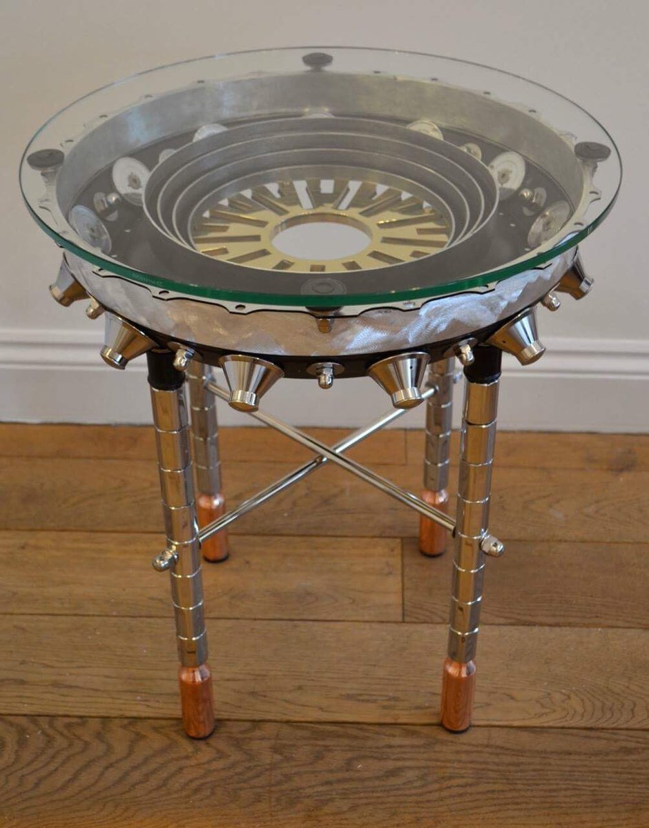 #Design Awesome of the Day: 'Prometheus' #Steampunk ⚙️ Table Made from Aluminium Copper Stainless steel by @sculptureslayer Available @ParagonArtLtd #SamaDesign